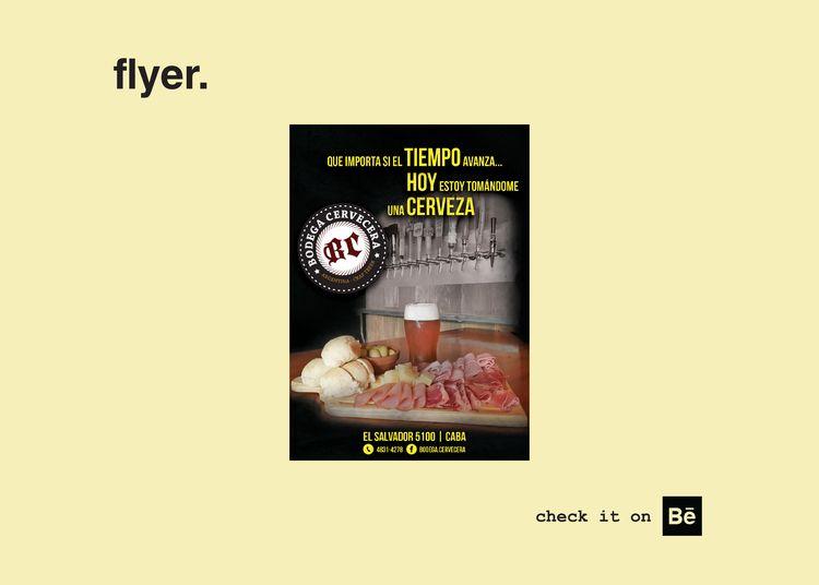flyer. brewery located Palermo  - rocha_rma | ello