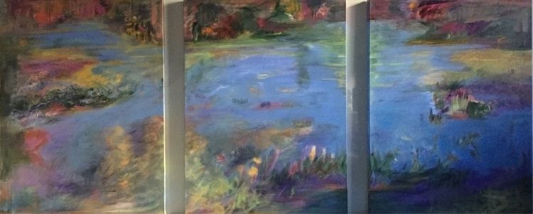 Triptyck 40x 90 Floating Garden - bobbi-8863 | ello