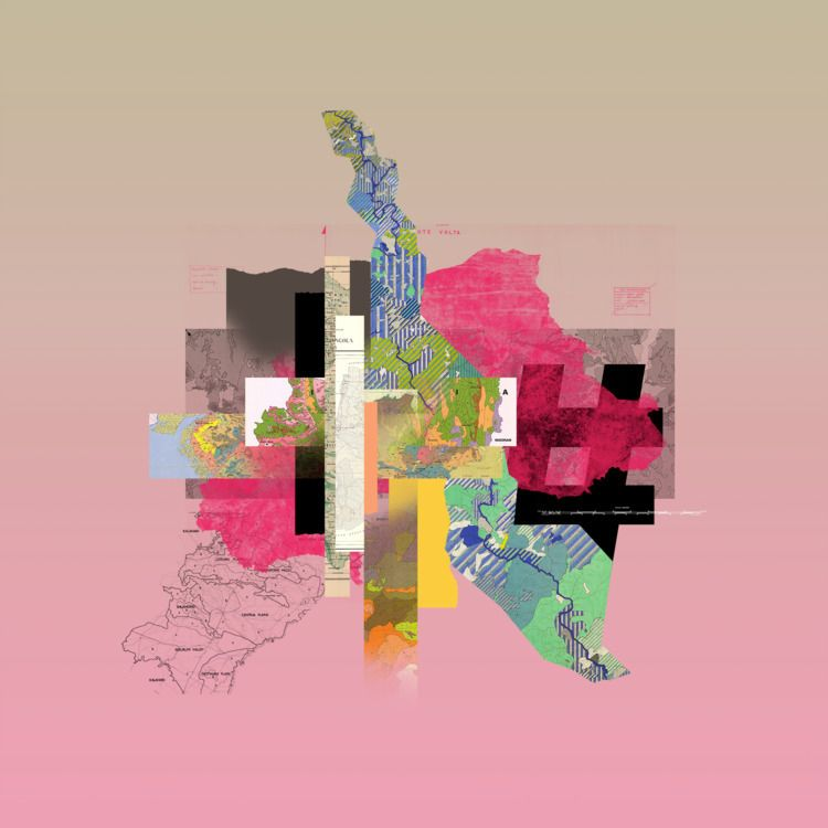 Map Series (100x100 cm - azerty   ello