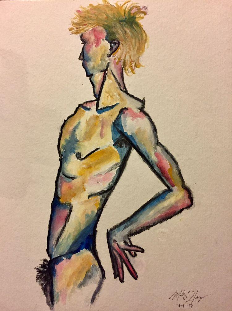 Male figure studies. Gouache. M - merilynhernandez | ello