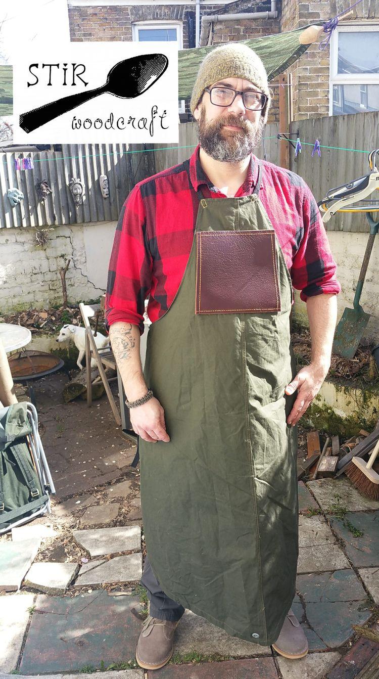 apron carving garden, hoping cu - stir_woodcraft | ello