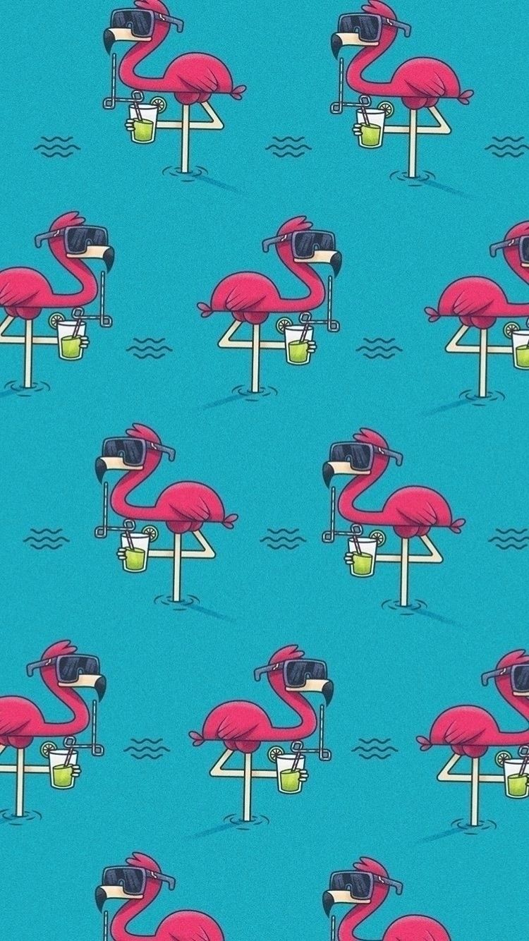 Fresh flamingo // pattern - mrlemonade | ello