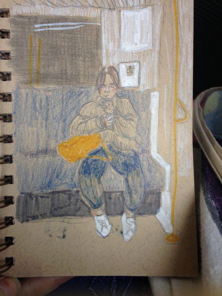 original sketch woman, picture  - lucyjade_ | ello