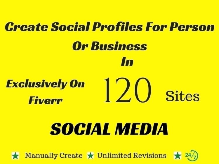 create 120 social profiles pers - golamrabbani325 | ello