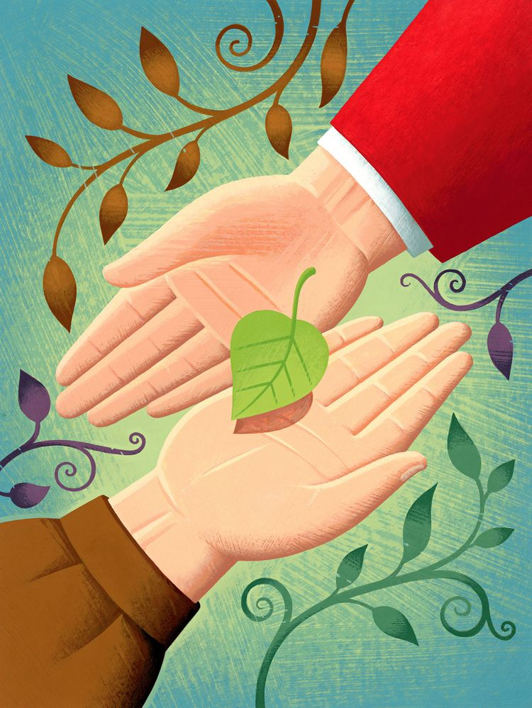 Sharing - sharing,#friends,#family,#caring,#mindfulness,#green,#leaf,#hands - nikad | ello
