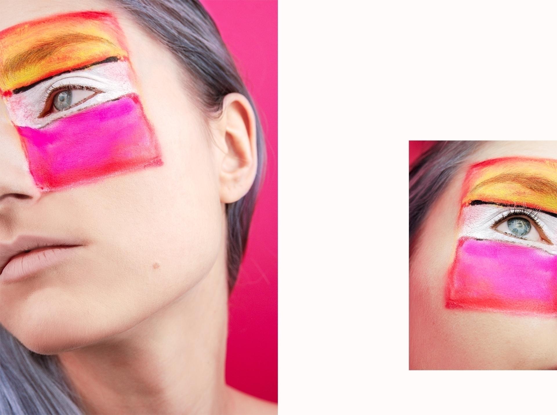Make-up inspirowany obrazem. 'Biały środek (żółty, różowy, lawendowy)' by Mark_Rothko
