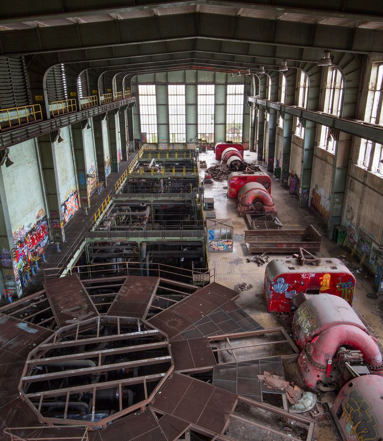 turbine hall large power plant  - forgottenheritage | ello