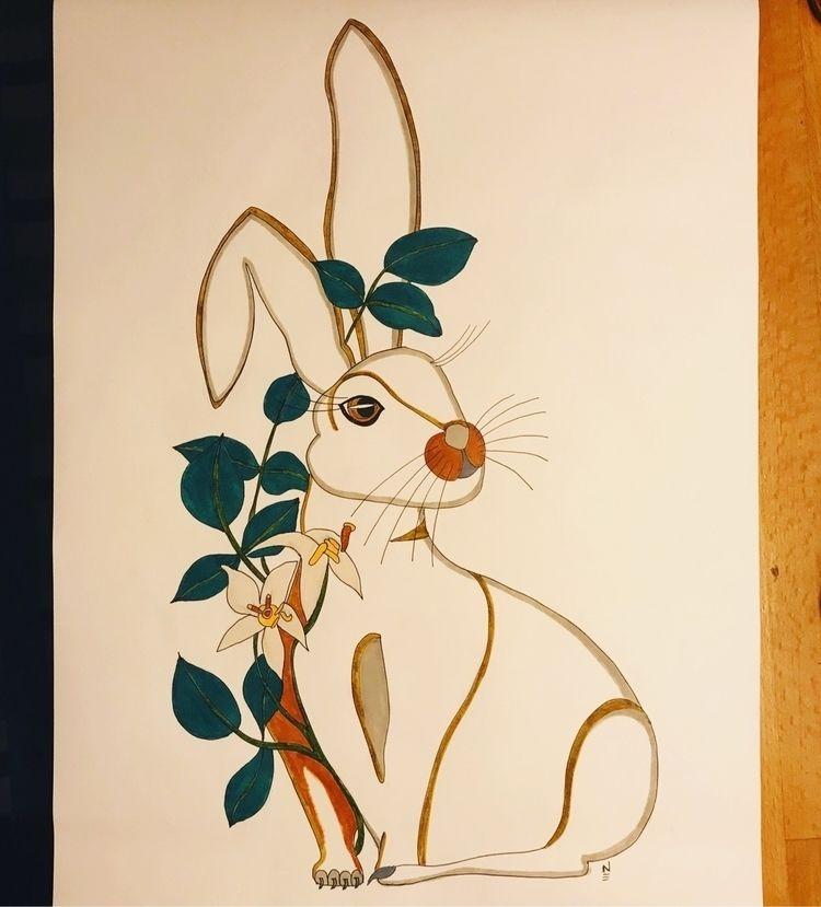 Hare poison ivy. Easter. Felt t - naomilittle | ello