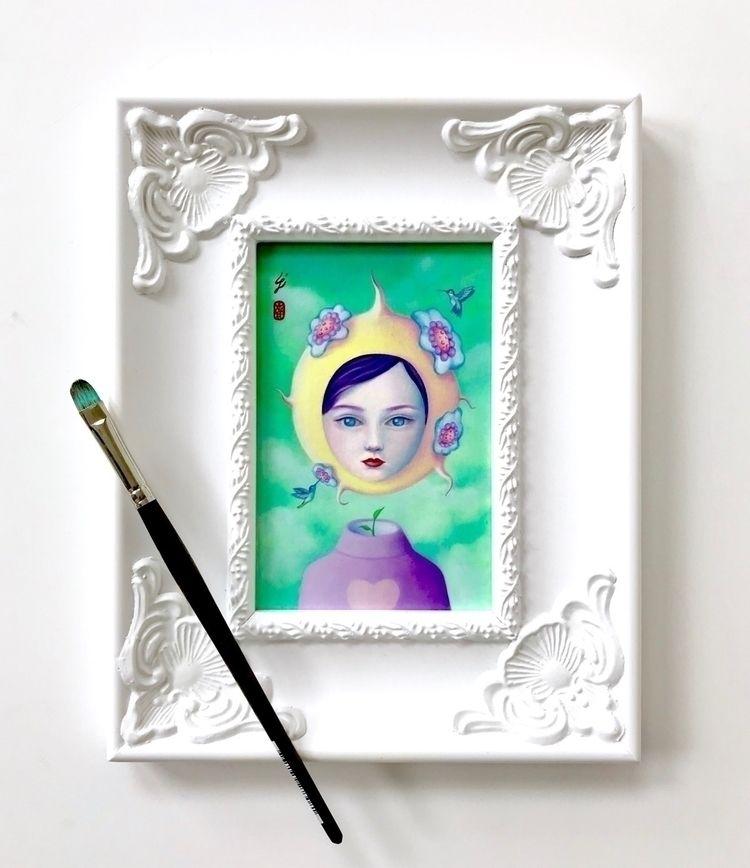 """Nectar"" girl frame ~ view Cact - carolinaseth | ello"