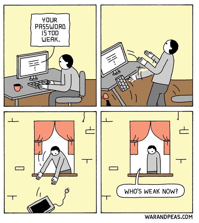 Weak  - comic, webcomic, warandpeas - warandpeas | ello