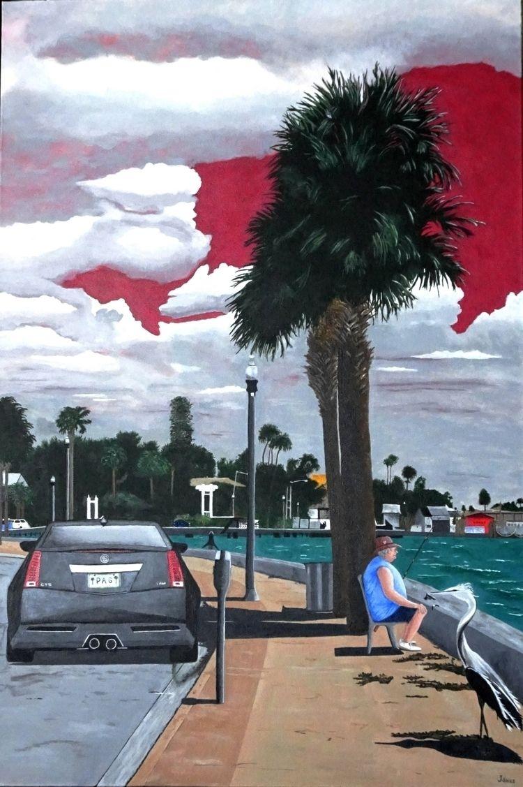 Red Sky Morning acrylic canvas - teragram1 | ello