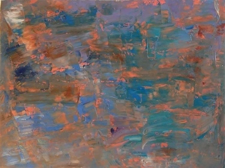 Sunset Blue 14x11 Oil Canvas Pa - robinccpoole   ello
