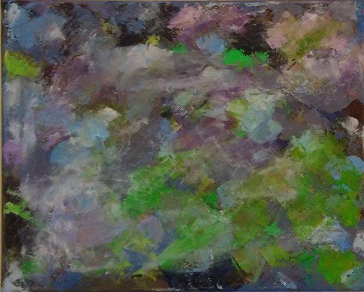 Clouds Purple 20x16 Oil Canvas - robinccpoole   ello