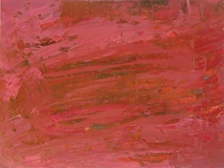 Reflections Red 9x12 Oil Paper - robinccpoole | ello
