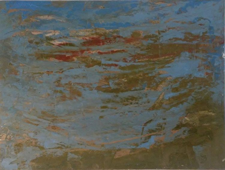 Moss Blue 9x12 Oil Paper - robinccpoole   ello