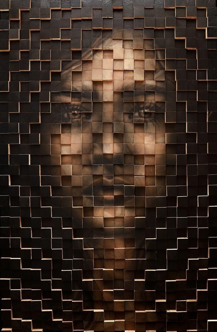 Painting 700 wooden cubes, 2017 - viniparisi | ello
