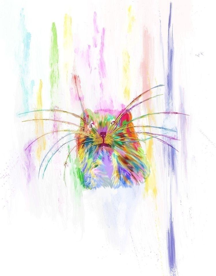 Cabeza de ratón colorido flotan - migulios | ello