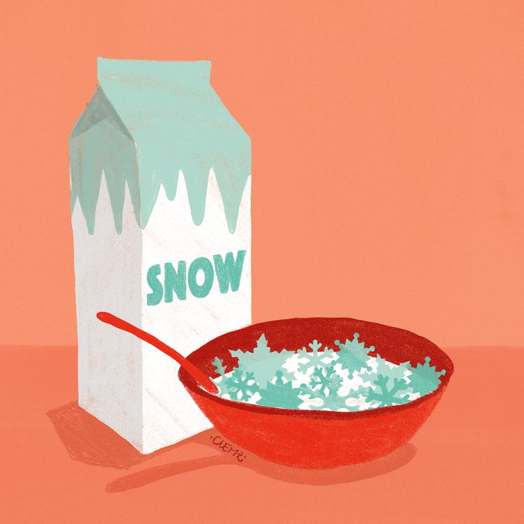 snowflakes, breakfast, snow, letitsnow - clemzillu | ello