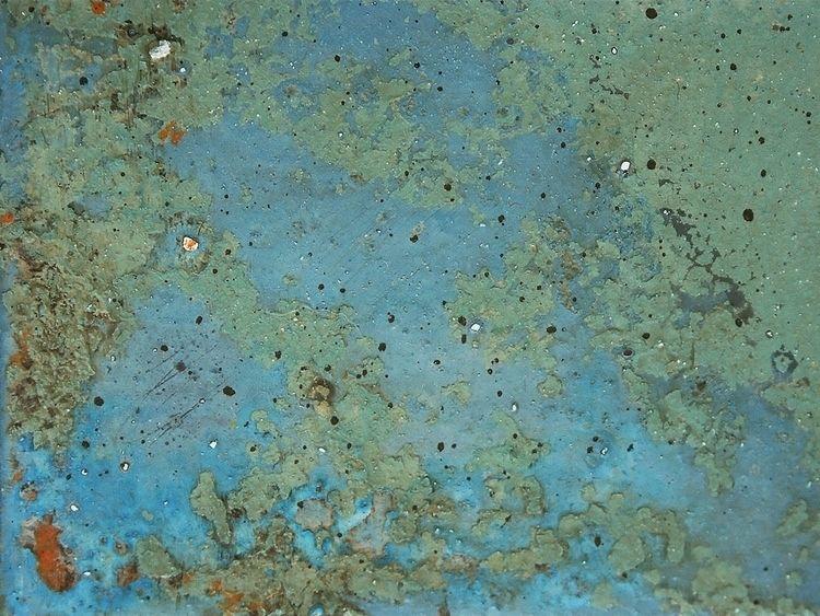 Blue chippy texture. Painted mi - eadesign | ello