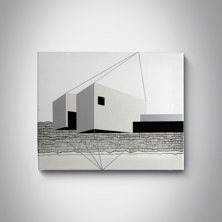 Architecture 005 30x40 cm, acry - ilobahie | ello