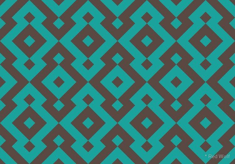Geometric Pattern: Diamond: Blu - red_wolf | ello