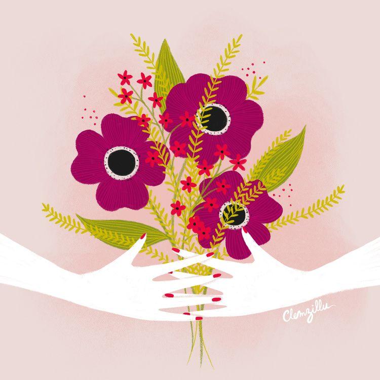 handdrawing, plantdrawing, flowersdrawing - clemzillu | ello