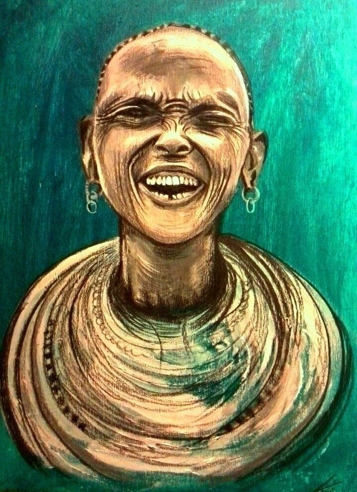 Laughter turquoise (acryl color - katharinawozny | ello