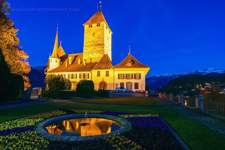 Spiez Castle night Spiez, Bern - hsphotos | ello