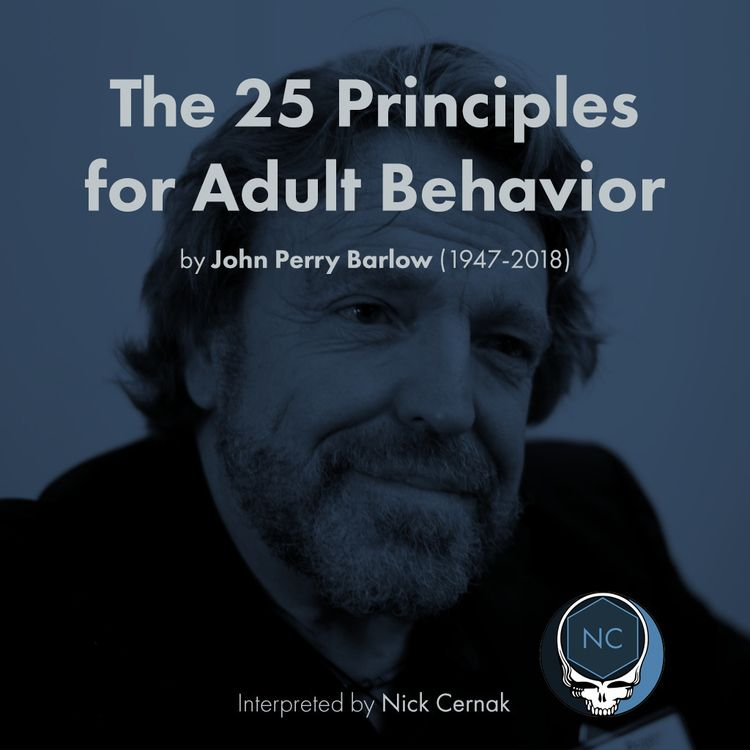 25 Principles Adult Behavior Jo - cernak   ello