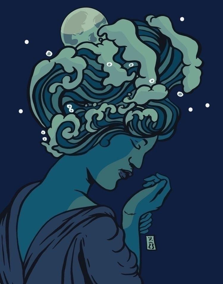 Sea Night - illustration - thomcat23 | ello
