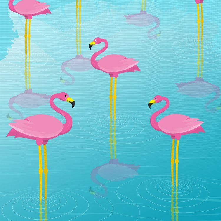 Flamingo Pattern :) designer pr - designmnl | ello