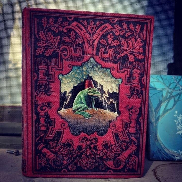 Thunder Frog, oil book cover - myklwells - myklwells | ello