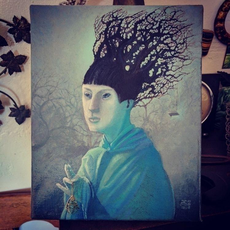 Taint Saint, oil canvas, 8 10 - myklwells - myklwells   ello
