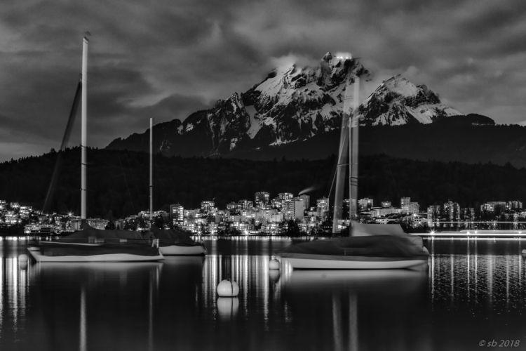 Lake Lucerne / Mt. Pilatus Moon - svenrichardbernert | ello