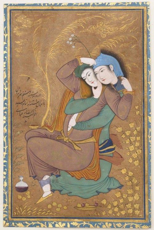 Lovers Riza-yi `Abbasi Medium:  - gwyllm   ello
