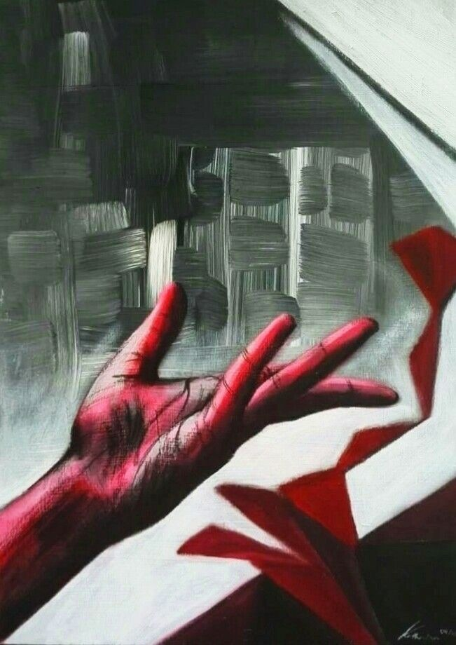 tua mão/Give hand (acrylics col - katharinawozny | ello