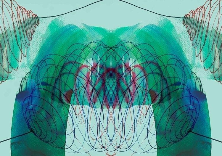 Symmetrical Turquise - 01 origi - istvanocztos | ello