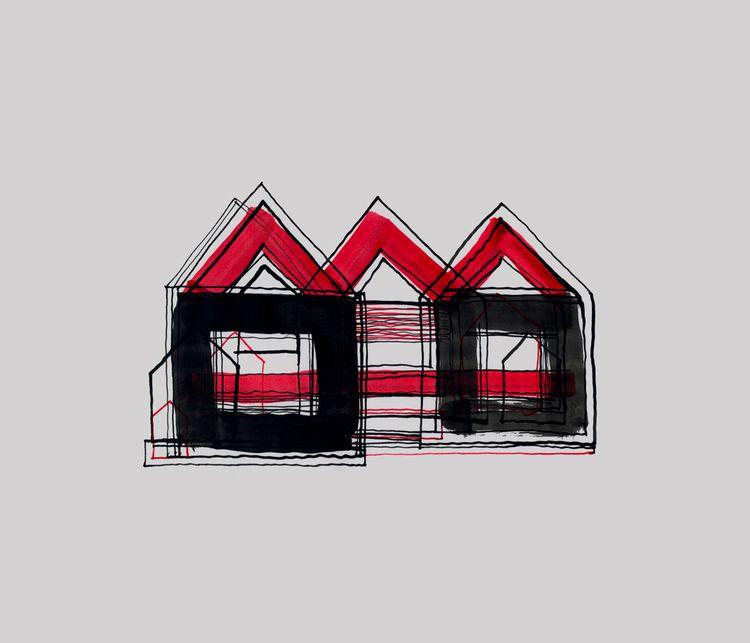 Red Black Houses 03 drawings/pa - istvanocztos | ello