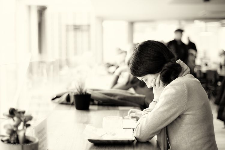 Waiting boyf - cafe, girl, waiting - toni_ertl | ello