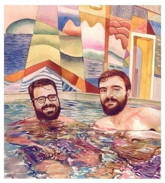 watercolours, portrait - josemanuelhortelanopi | ello