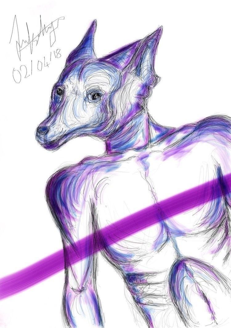 Man side man - digital, illustration - jannatli | ello