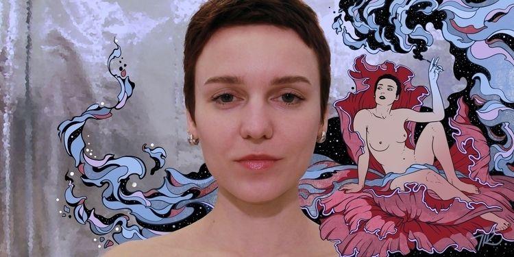 Selfportrait - taisgraphics, opium - tais_graphics   ello