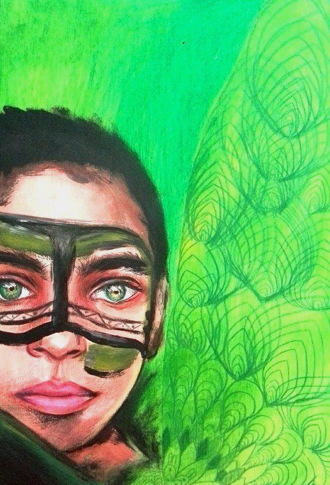 Olha para (acrylics color penci - katharinawozny | ello