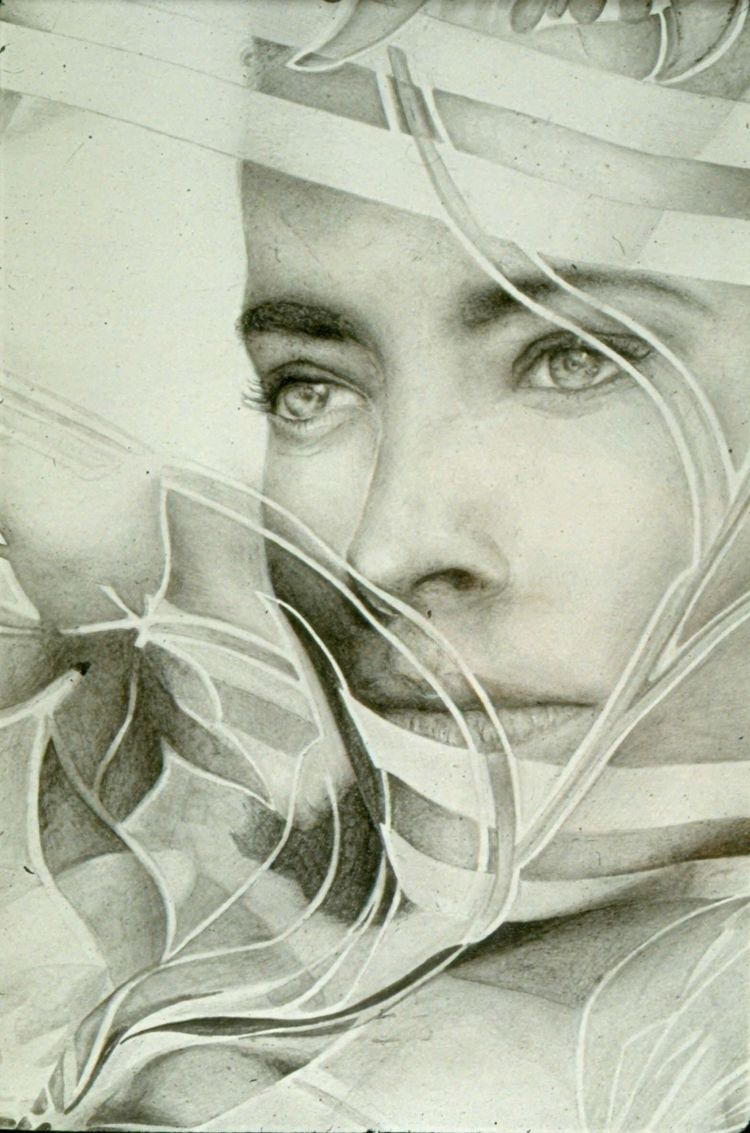 EARLY WORK pencil GIRL SCARF - drawing - michibroussard | ello
