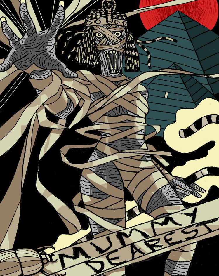 'Mummy Dearest - art, arte, artinfo - ciaran_illustration | ello