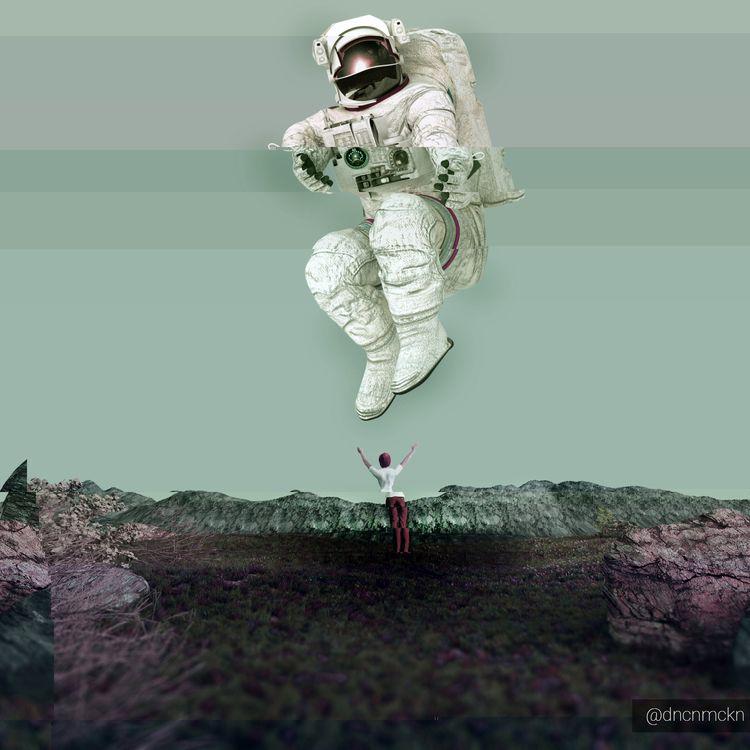 Spaceman_Glitch - spaceman, 3dart - dncnmckn | ello