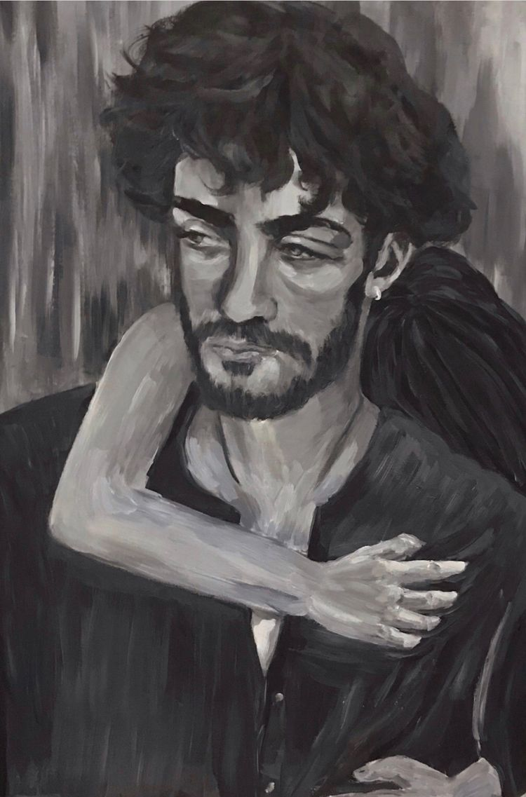 portrait, canvas, blackandwhite - mariabrionesballester   ello