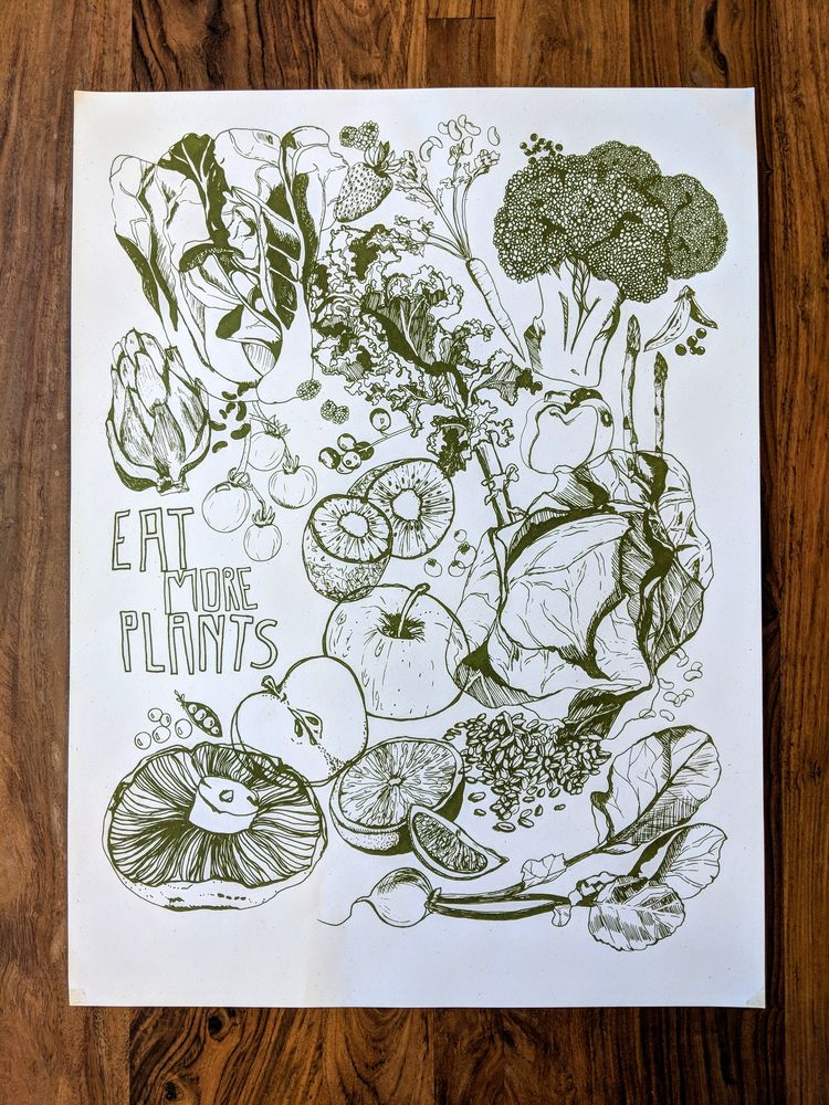 BroadCity!, eatmoreplants, illustration - wearebrainstorm | ello