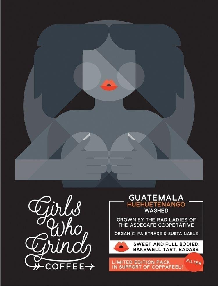 girlswhogrindcoffee.com - packaging - bentheillustrator | ello
