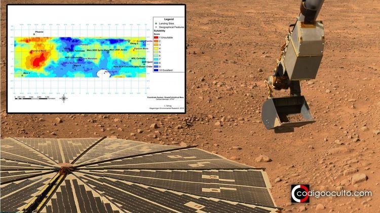 Este mapa de Marte muestra dónd - codigooculto | ello